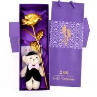 Skylofts Artificial Flower, Showpiece, Soft Toy Gift Set