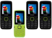 Mymax M40 Combo of Four Mobiles(Black&Green$$Green&Black$$Black&Green$$Black&Green)