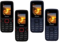 Mymax M40 Combo of Four Mobiles(Black&Red$$Black&Red$$Blue&Black$$Blue&Black)