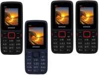 Mymax M40 Combo of Four Mobiles(Black&Red$$Blue&Black$$Black&Red$$Black&Red)