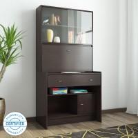 HomeTown Gleam Engineered Wood Study Table(Free Standing, Finish Color - Walnut)