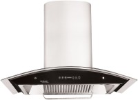 Hindware Cleo 90 Auto-Clean chimney Wall Mounted Chimney(Stainless Steel Hood/ Black Toughened Glass 1200)