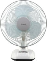 Impex Solar Rechargeable Fan (BREEZE D3) with LED Light 3 Speed Mode 3 Blade Table Fan(White)