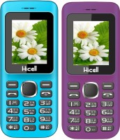 Hicell C5 Combo of Two Mobiles(Blue&Black$$Violet&Black)
