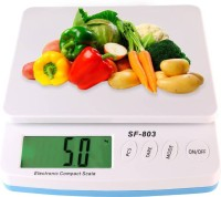 Sadarbazaarsales.Com Electronic Compact Kitchen Scale with Max Capacity 30kg Weighing Scale(White)