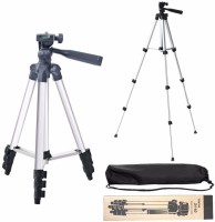 Piqancy Tripod - 3110 Portable & Foldable Camera - Mobile Tripod With Mobile Clip Holder Bracket , Fully Flexible Mount Cum Tripod , Standwith Three-dimensional Head & Quick Release Plate Only 150 gm + Black Carry Bag for Canon Nikon Sony Cameras Camcorders iPhone & Androids Tripod(White, Supports U