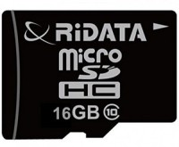 Ridata 16GB 16 GB MicroSDHC Class 10 30 MB/s  Memory Card(With Adapter)