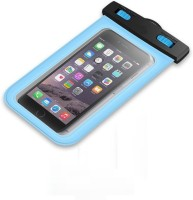 RHONNIUM Pouch for ™ Electric blue - Waterproof Case, Clear Floating Water Proof Cell Phone Pouch(Electric blue, Waterproof, Plastic, Rubber, Metal)