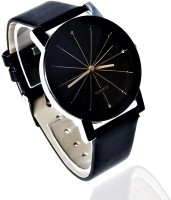 NUBELA Prizam Glass Black Dail Watch - For Girls