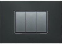VIHAN 3 Module Forza Metallic Velvent Black Color Plate Switch 20 Three Way Electrical Switch(Pack of 1 Number of Switches - 3)