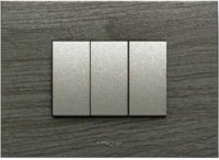 VIHAN 3 Module F-ONE Carbon Venge Wood Color Plate Switch 20 Three Way Electrical Switch(Pack of 1 Number of Switches - 3)