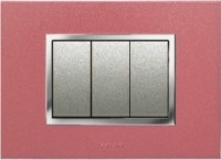 VIHAN 3 Module F-ONE+ Metallic Popping Ruby Color Plate Switch 20 Three Way Electrical Switch(Pack of 1 Number of Switches - 3)