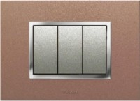 VIHAN 3 Module F-ONE+ Metallic Copper Candy Color Plate Switch 20 Three Way Electrical Switch(Pack of 1 Number of Switches - 3)