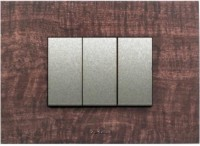 VIHAN 3 Module F-ONE Dark Wood Oak Color Plate Switch 20 Three Way Electrical Switch(Pack of 1 Number of Switches - 3)