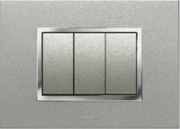 VIHAN 3 Module F-ONE+ Metallic Graphite Color Plate Switch 20 Three Way Electrical Switch(Pack of 1 Number of Switches - 3)