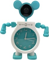 Clarastar Kids IP HD 1920p Camera with in built clock - IP Camera Security Webcam System Wireless Surveillance Fish Eye 1.4mm Lens Wifi Panoramic Camera with 2 way Mic for Kids Baby Monitor with Moveable Arms(Audio, Video, Mobile)