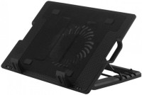 techno Adjustable Ergo Laptop Stand with 14cm Fan with USB HUB 1 Fan Cooling Pad(Black)