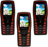 Mymax M7250 Combo of Three Mobiles(Black&Red$$Black&Orange$$Black&Red)