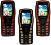 Mymax M7250 Combo of Three Mobiles(Black&Red$$Black&Gold$$Black&Orange)