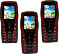 Mymax M7250 Combo of Three Mobiles(Black&Red$$Black&Red$$Black&Red)