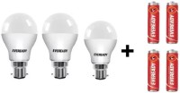 Eveready 151510 W Round B22 LED Bulb(White, Pack of 3)