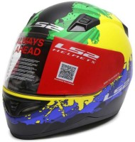 LS2 Ink G.Y.Blue Motorbike Helmet(Multicolor)