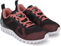 REEBOK Girls Lace Running Shoes(Black)