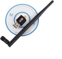 Durable 600Mbps WiFi Dongle Wireless 802.11n/g/b with Antenna USB Adapter(Black)