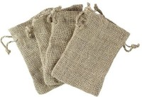 Super Z Outlet Natural Color Burlap Bag With Drawstring Closure For Arts & Crafts Projects, Gift Packaging, Presents, Snacks & Jewelry (50 Pack