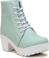 FASHIMO Boots For Women(Green)
