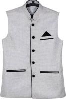 BIS Creations Sleeveless Self Design Men Jacket