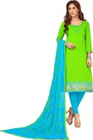 The Fashion Outlets Cotton Embroidered, Solid, Embellished Salwar Suit Dupatta Material(Un-stitched)