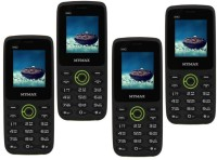 Mymax M42 Combo of Four Mobiles(Black&Green$$Black&Green$$Black&Green$$Black&Green)