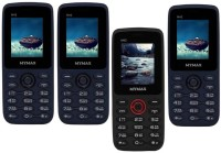Mymax M42 Combo of Four Mobiles(Blue&Black$$Blue&Black$$Black&Red$$Blue&Black)