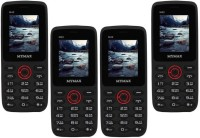 Mymax M42 Combo of Four Mobiles(Black&Red$$Black&Red$$Black&Red$$Black&Red)