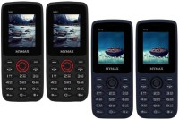Mymax M42 Combo of Four Mobiles(Black&Red$$Black&Red$$Blue&Black$$Blue&Black)