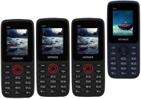 Mymax M42 Combo of Four Mobiles(Black&Red$$Black&Red$$Black&Red$$Blue&Black)