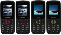 Mymax M42 Combo of Four Mobiles(Black&Red$$Black&Red$$Black&Green$$Black&Green)