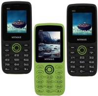 Mymax M42 Combo of Three Mobiles(Black&Green$$Green&Black$$Black&Green)