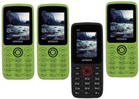 Mymax M42 Combo of Four Mobiles(Green&Black$$Green&Black$$Black&Red$$Green&Black)
