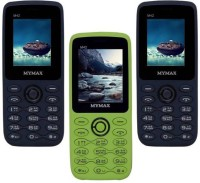 Mymax M42 Combo of Three Mobiles(Blue&Black$$Green&Black$$Blue&Black)