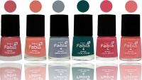 SMC FABIA Longest Lasting Ever Nail Polish Set ( Bazooka Joe::Light Peach::Wild Gray Yonder::Dark Green::Shock Pink::Baby Pink )