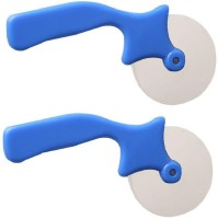 SAM Blue 2 Pcs Combo Rolling Pizza Cutter(Stainless Steel)