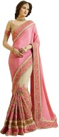 IndianEfashion Self Design, Embroidered Bollywood Georgette, Net Saree(Red)
