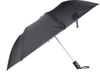 Elephant 2 Fold Automatic Button Press GENTS CHECKS Dot Line PRINT Silver Coated umbrella. Umbrella(Grey) thumbnail