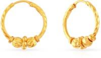Malabar Gold and Diamonds ERCOVM0053 Yellow Gold 22kt Hoop Earring