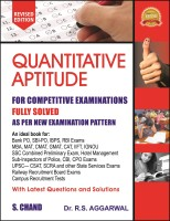 Quantitative Aptitude(paer back, R S Aggarwal)