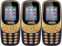 Inovu A1 Pack of Three Mobiles(Blue$$Blue$$Blue)