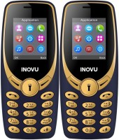Inovu A1s Combo of Two Mobiles(Blue&Gold$$Blue&Gold)