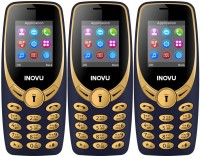Inovu A1s Pack of Three Mobiles(Blue&Gold$$Blue&Gold$$Blue&Gold)